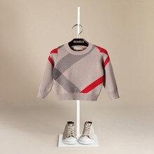 Vente chaude Garçon Chandail 2017 Automne Brand Design Laine Tricoté Pull Cardigan Pour Bébé Filles Enfants Vêtements Enfants Infantile Haut