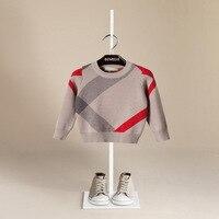 Hot Sale Boy Sweater 2017 Autumn Brand Design Wool Knitted Pullover Cardigan For Baby Girls Children