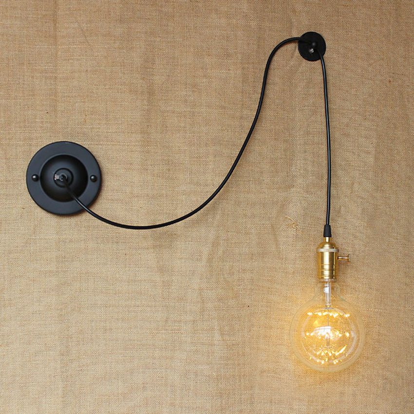 American Country DIY Art Creative Wall Lamps Vintage