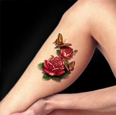 3d Spider Tattoos Waterproof Hand Tattoo Sticker 3d Male Women