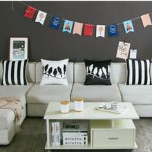 45×45/50×50/60×60 см скандинавские двойные черные белые птицы Бархатный Чехол для подушки офис полосатая наволочка диван подушка крышка