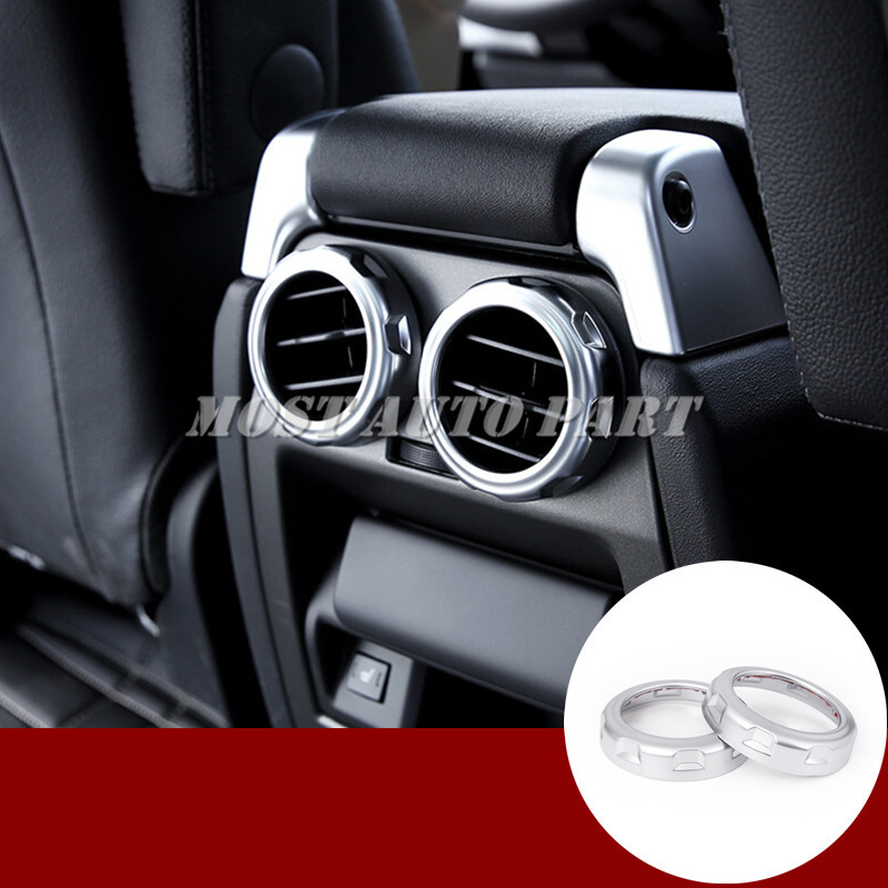 Silver trim interior rear air vent cover for Land Rover Discovery 3+4 console