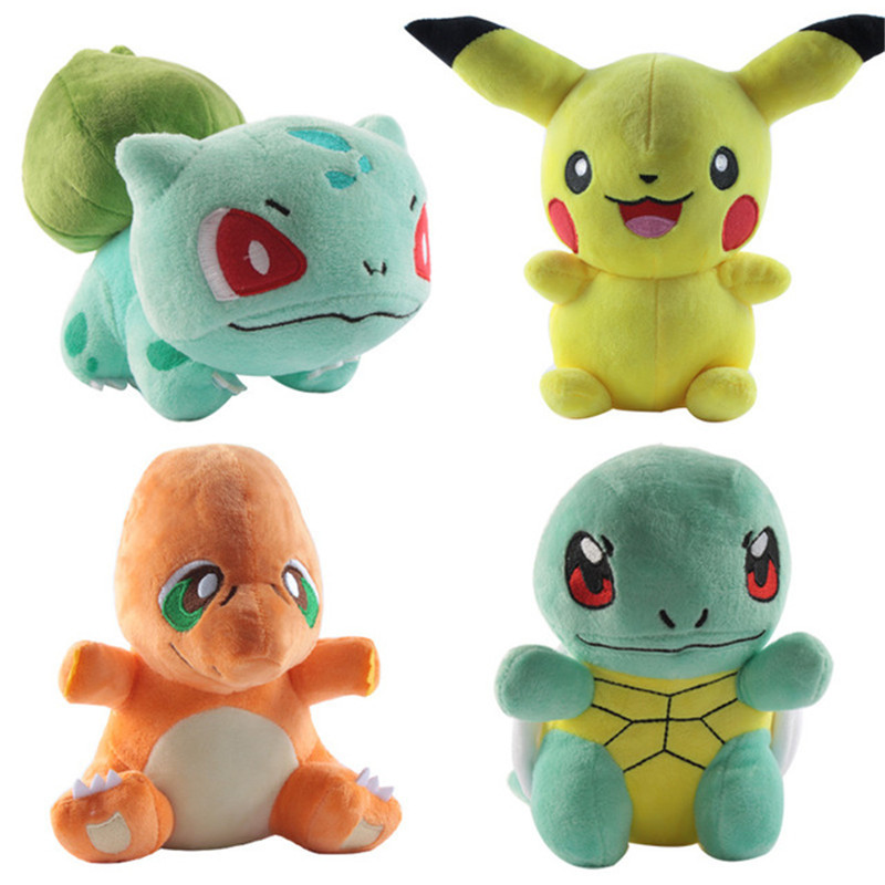 Cute Pikachu Plush Toy Jigglypuff Poliwhirl Charmander Gengar Toys Sleeping Pillow Doll For Kid Baby Birthday Gifts Anime Soft