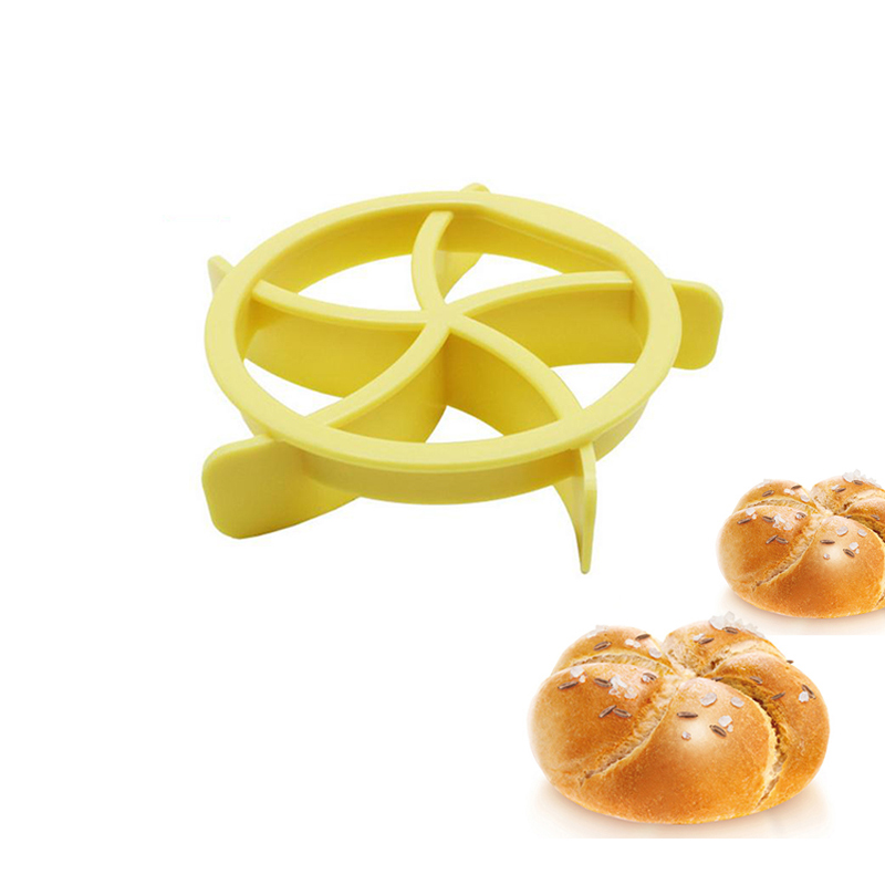 Baycheer 3D Plastic Kaiser Roll Maker DIY Cake Cutters Cookies Cutter Bread Seal Mold Kitchen Baking Decoration Tools image