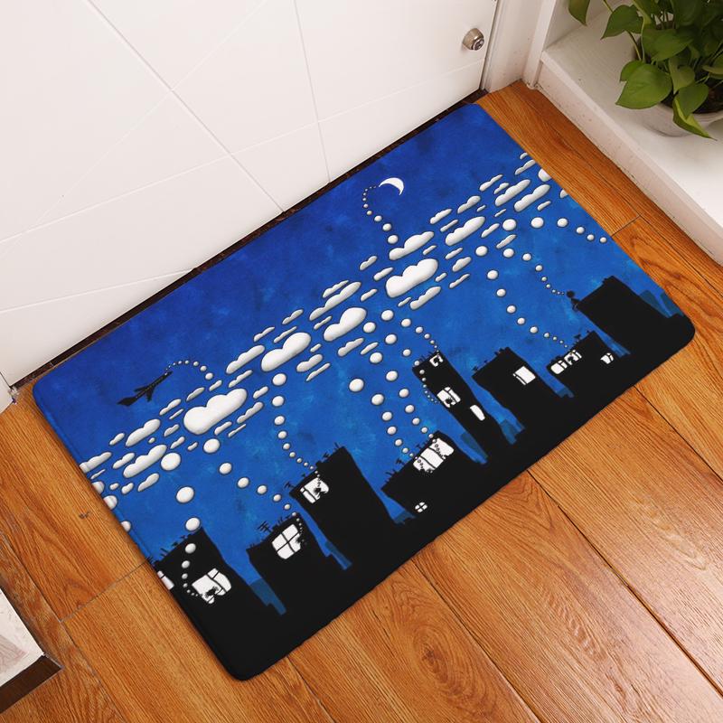 bb47fb47ac0dc Cartoon Flannel Carpet Angel And Devil Printing Mat For Living Room 40x60cm  50X80cm Door mat Rectangle Tapete - us872