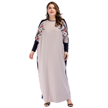 Plus size Middle East Women Abaya Muslim dress Batwing Sleeve Kaftan Islamic arabic Turkish embroidery patchwork Maxi dresses