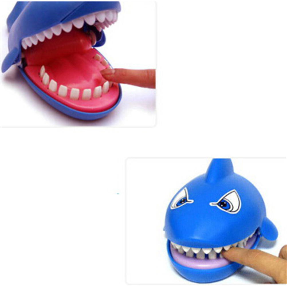 1PCS Cartoon Shark Mouth Dentist Bite Finger Novelty Family Game Toy For Kids Children Gift Joking Funny Gag Toys image