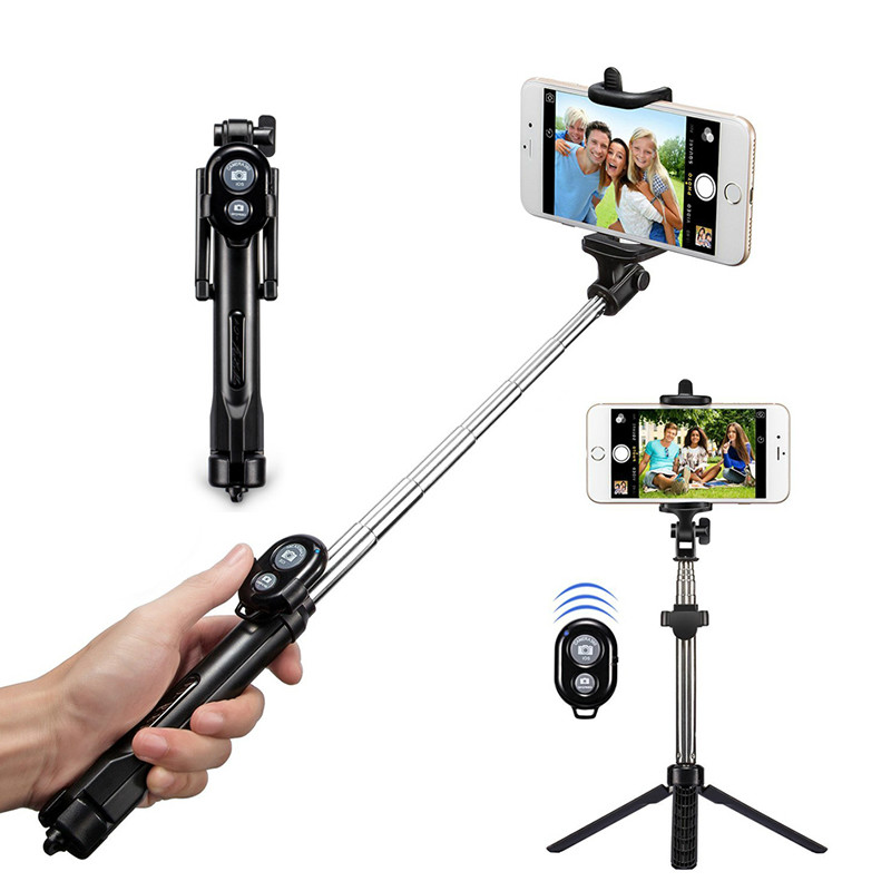 Bluetooth Tripod Selfie Stick Monopod With Button Remote Camera Selfie Stick For Iphone 6 8 Plus Huawei Android Stick Z2