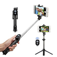 Tripod Monopod Bluetooth Selfie Stick With Button Remote Camera Selfie Stick for iphone 6 8 Plus Huawei Android Stick Z2 100%original huawei honor bluetooth selfie stick tripod portable bluetooth3 0 monopod for iphone android huawei smart phone