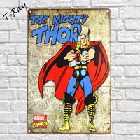The Mighty THOR Comics Vintage Metal Sign Wall Sticker For Drink Bar Pub Cafe Home Wall