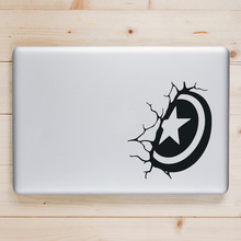 Captain America Shield Laptop Sticker for Apple Macbook Pro Air Retina 11 12 13 15 inch Vinyl Superhero Mac HP Book Skin Decal