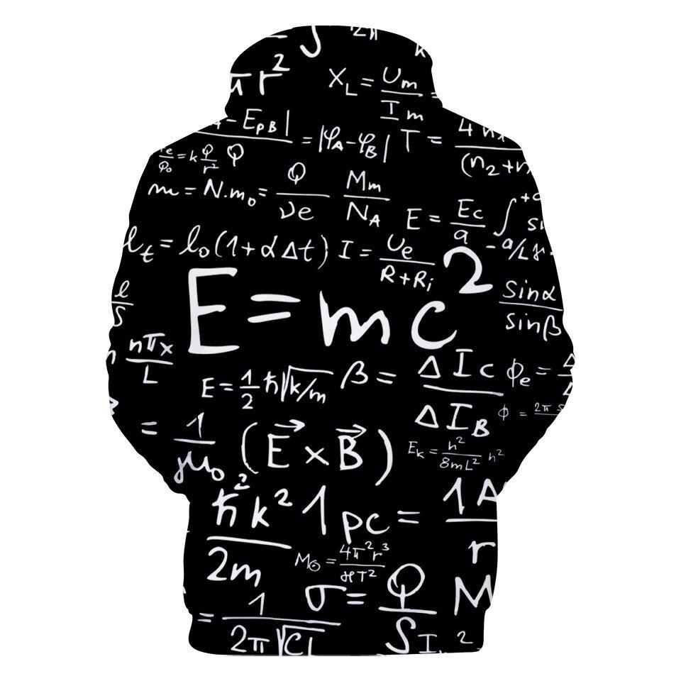 US $10.72 33% OFF|3 do 14 lat dzieci bluzy śmieszne Albert Einstein 3d drukowane bluza z kapturem bluza chłopcy dziewczęta E = MC2 kurtka Streetwear