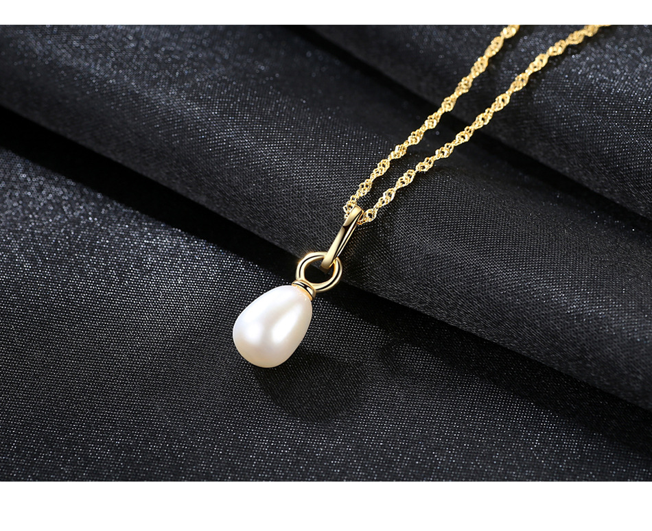 S925 sterling silver necklace pendant natural freshwater pearl pendant gift jewelry LS03