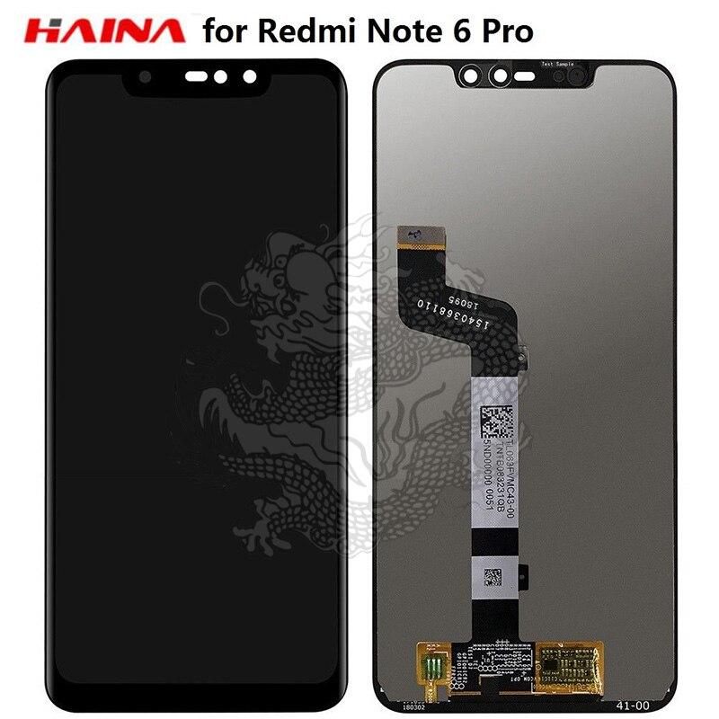 Pour xiaomi Redmi Note 6 Pro LCD Affichage Digitizer Écran Tactile Digitizer Assemblée Remplacement-Noir LCD Tactile Panneau