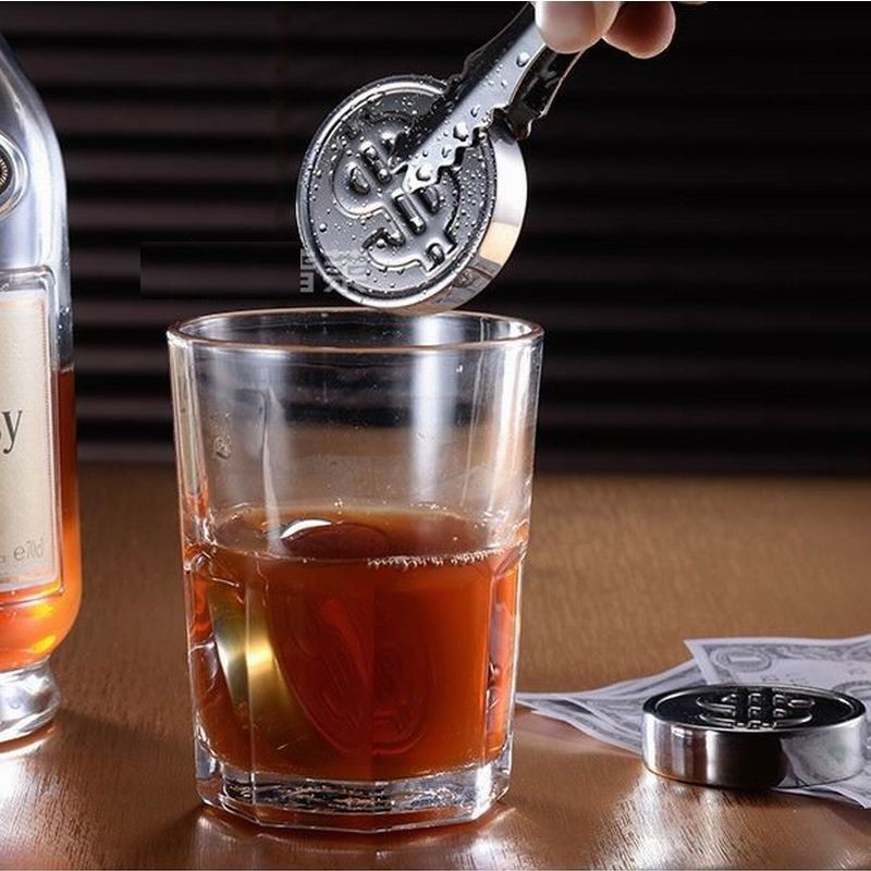 US $220 0 |100PCS StainlessSteel Whiskey Sipping Ice Cube Whisky US Dollar  sign Whisky Rock Cooler Wedding Gift Favor Christmas Bar-in Others from