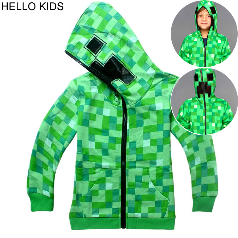 Spring-autumn Fashion outwear Minecraft Cartoon Childrens clothes sweatshirts Baby Boys  ...