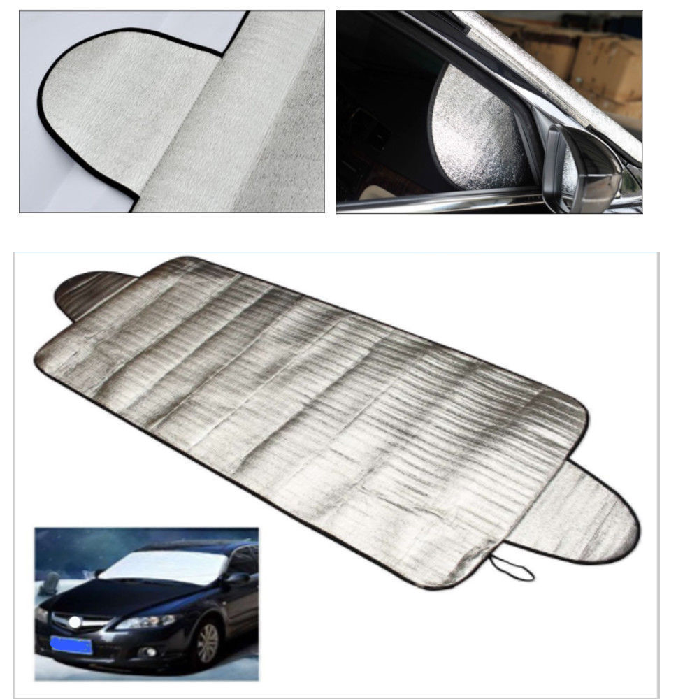 Car Truck Windshield Window Visor Cover Sun Shade Snow Frost Ice Dust Protector