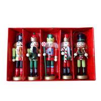Noel hediyesi Fındıkkıran Kukla Kral Asker 12 CM 5 Parçalı Set Çocuk Odası Dekorasyon