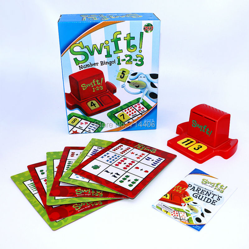 Swift 1 2 3 Numbers Bingo Family Game Children Number