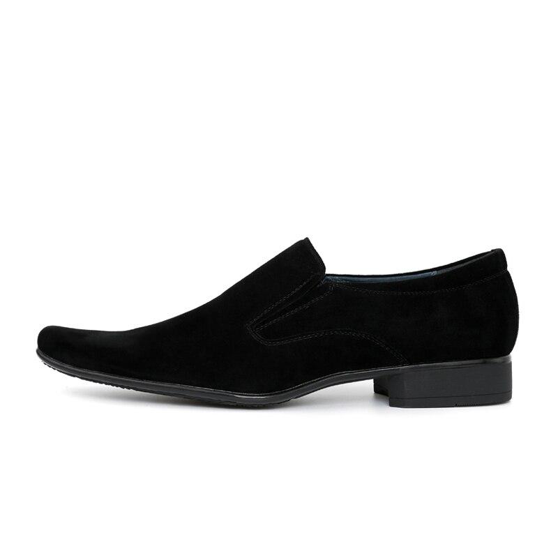 Men Genuine Leather/Sheepskin Dress Shoes New Italian Fashion Men's Black Shoes Men Office Work Wear Footwear Bussiness Shoes