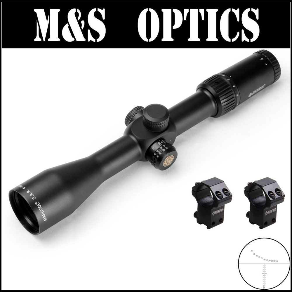 5 PCS/ Marcool EVV 4-16X44 SF FFP Bullet Guns Air Tactical Rangefinder Reticle Rifle Scope With Riflescope Mount For Hunting discovery vt t 4 5 18x44sfvf white leters reticle side shooting hunting riflescope rangefinder for airsoft air guns