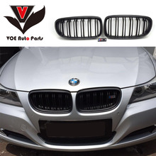 2009-2012 Kidney Shape ABS Plastic Matte Black E90 Change to M3 Style Front Grill Grille for BMW E90 3 Series(not fit E90 M3)