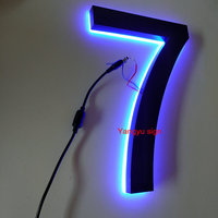 Outdoor Stainless Steel Backlit Letters Luminous House Number