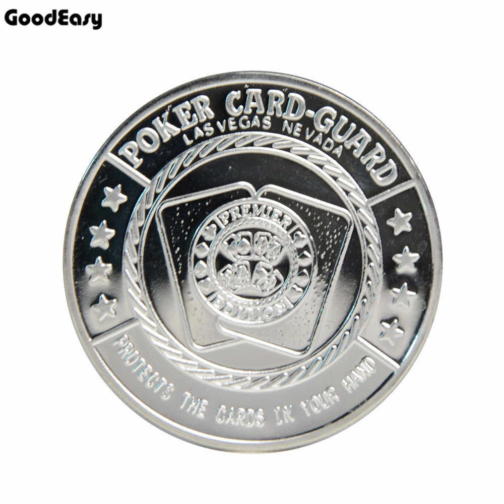 TEXAS HOLDEM Poker Card Guard Cover Protector Coin SILVER Color