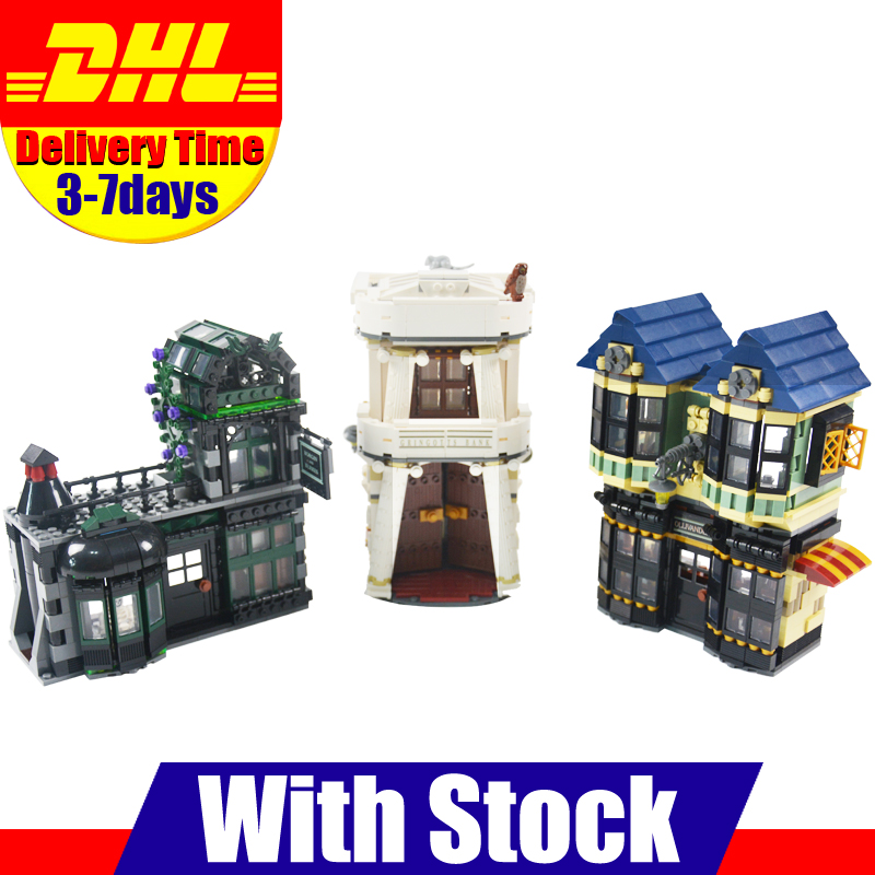 цены DHL LEPIN 16012 2025pcs Movie Series The Diagon Alley Set 10217 Building Blocks Bricks Educational Toys