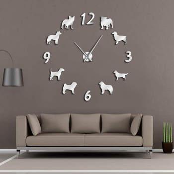 別の犬品種大型柱時計犬愛好家のペット所有者の家の装飾壁時計モダンデザイン Diy 子犬壁時計