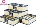 LOAAO home storage box bins underwear organizer box bra necktie socks storage organizer