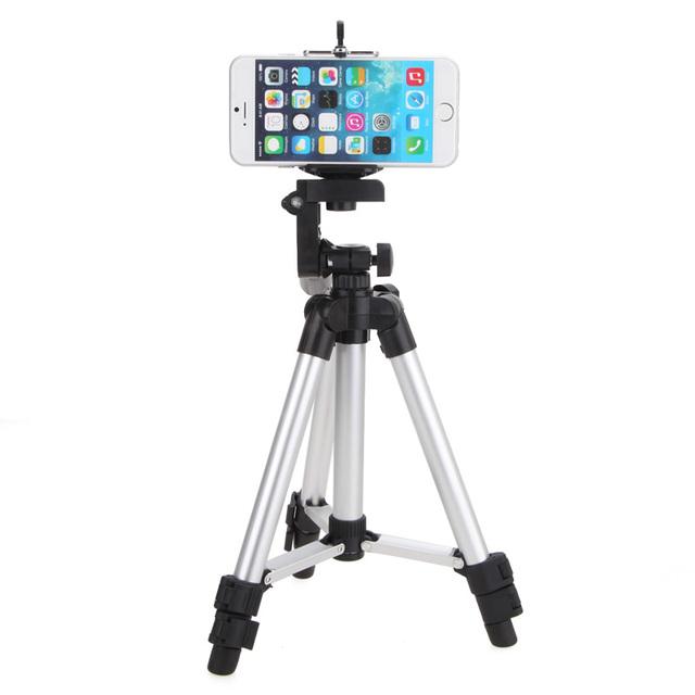 Entrega rápida un2f professional câmera tripé stand titular para iphone i-pad para samsung galaxy tab
