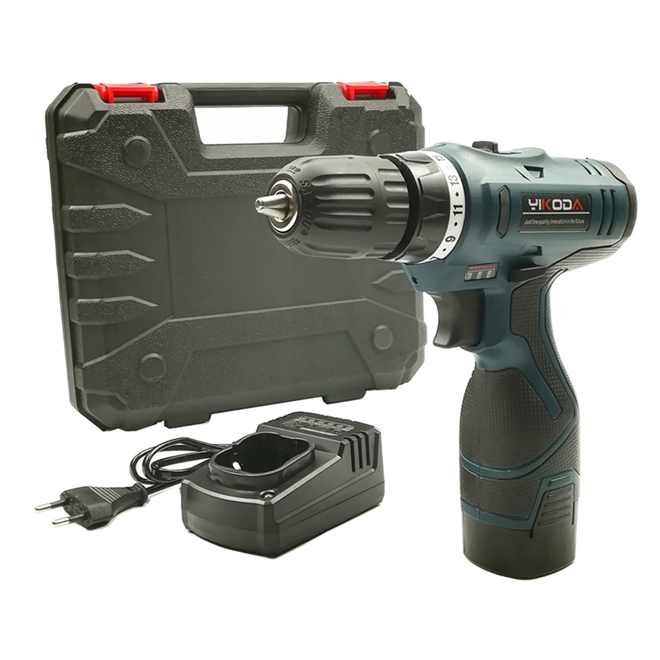 цена на YIKODA 16.8V Lithium Battery Rechargeable Cordless Driver Drill Electric Screwdriver Multi-function Household Drill Power Tools