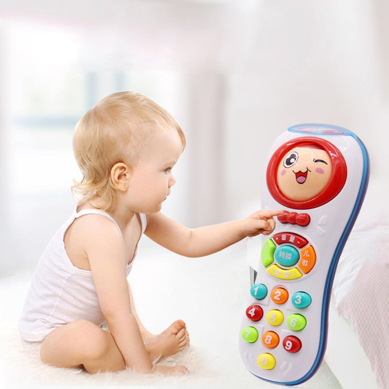 7*6*16cm Face Changing Music Toys Baby Mobile Phone Remote Control Early Educational Toys Electric Sounding Toy Gift For Toddler