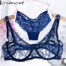 ultra - thin lace sexy bras ladies bra sets women underwear lace underwear intimate noble young girl brassiere sets