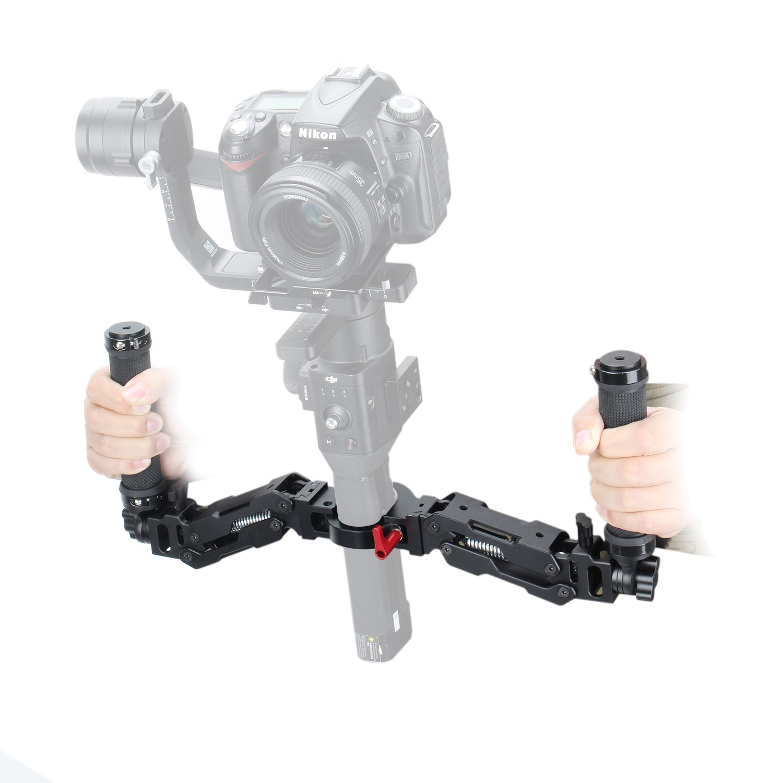 EACHSHOT Z Axis 5 Axis Spring Dual Handle Grip Gimbal Handheld Handlebar Kit for DJI Ronin