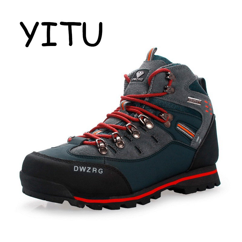 YITU 2018 Summer Hiking Trekking Boots Outdoor Camping Mountain Climbing Shoes Men Waterproof Hiking Sneakers Sport Shoes Brand-in Hiking Shoes from Sports & Entertainment    1