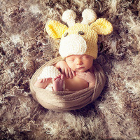 Baby Hat Newborn Photography Props Knit Baby Beanie Cap Animal Costume A105 Crochet Bonnet Baby Photo Prop Winter Baby Outfits