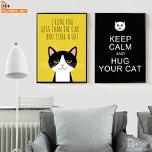 COLORFULBOY Black Cats Canvas Wall Art Nordic Posters And Prints Lovely Home Decor Painting Pictures For Living Room