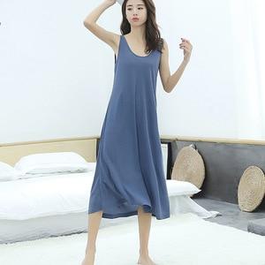 Image 4 - 2019 קיץ חדש בתוספת גודל גבירותיי אפוד ארוך שמלת נשים loose הלבשת sleepdress שרוולים כותונת עבור 100kg