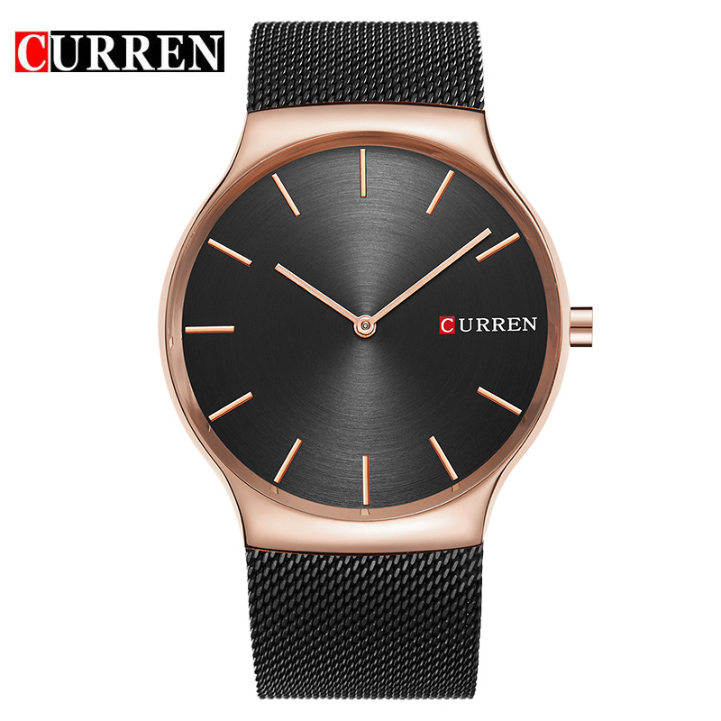 Fashion Golden Men Watch Curren Quartz Watches Full Stainless Steel Band Relogio Masculino Simple Wristwatch 8256 Dropshipping