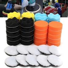 50Pcs 80mm 3'' Inch Colorful Buffing Polishing Sponge Pads Kit For Car Polisher цена в Москве и Питере