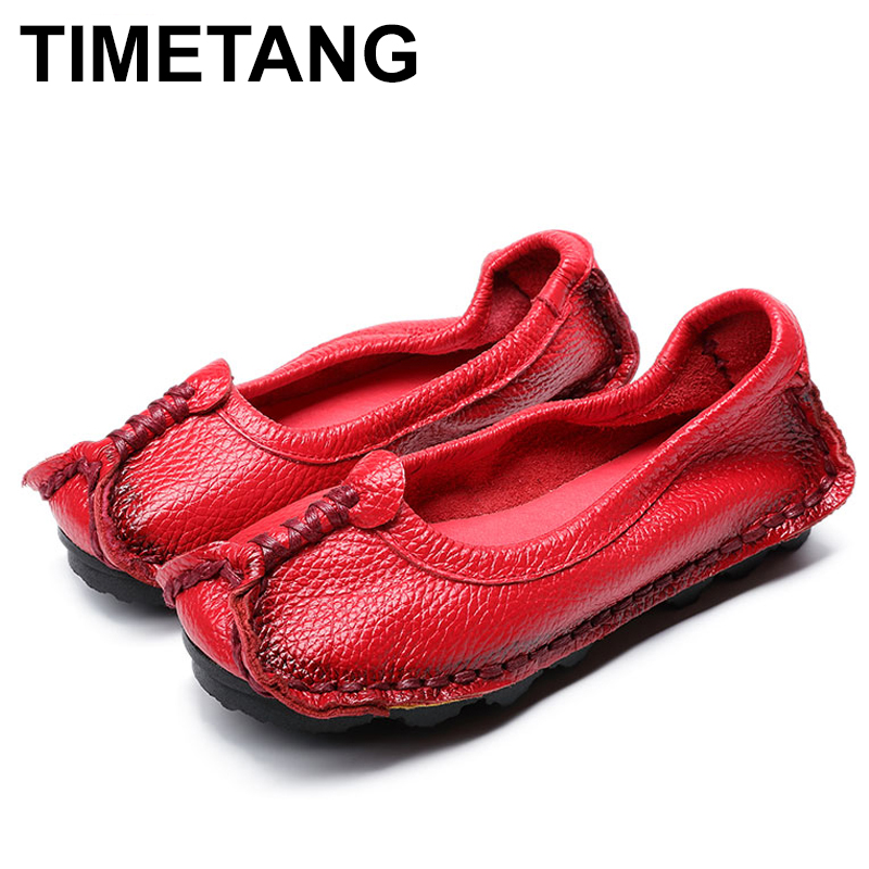 TIMETANG  Women Shoes Genuine Leather Loafers Women Mixed Colors Casual shoes Handmade Soft Comfortable Shoes Women Flats  C082 2017 fashion women shoes genuine leather loafers women mixed colors casual shoes handmade soft comfortable shoes women flats