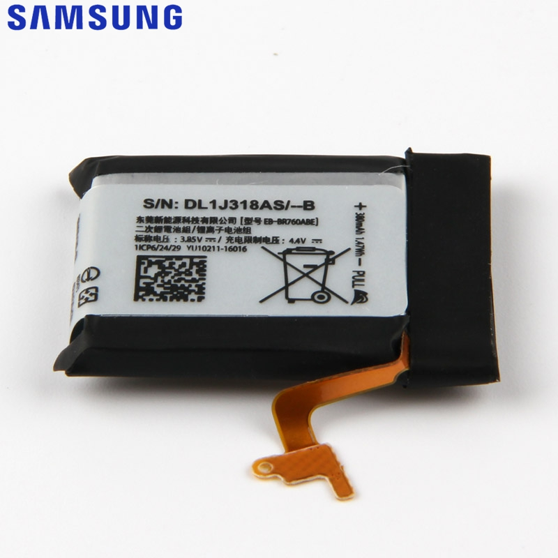 Original Replacement Battery For SAMSUNG Gear S3 Frontier Classic SM R770 SM R760 SM R765 EB BR760ABE SM R765S Genuine 380mAh in Mobile Phone Batteries from Cellphones Telecommunications