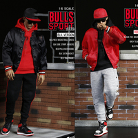 1/6 Scale Male Figure Clothes Accessory Bull Sport Clothing Set F 083A/B Clothes Shoes Accessories Model for 12'' Action Figure