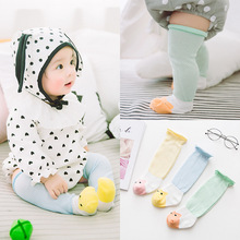 Sunnykucy  Cartoon Baby Socks Spring And Summer Cotton Mesh Loose Leg ChildrenS