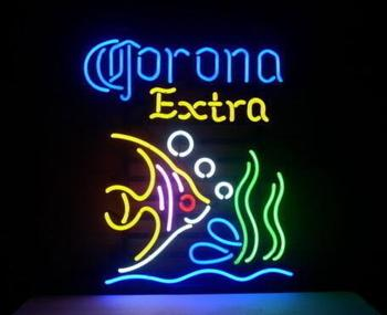 Custom Made CORONA EXTRA Glass Neon Light Sign Beer Bar