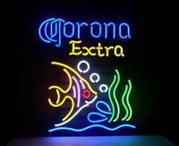Custom Made CORONA EXTRA Glass Neon Light Sign Beer Bar