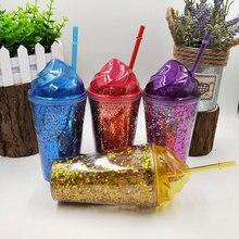 Luxury Glittering Eco-Friendly Plastic Water Bottle