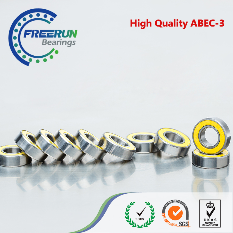 10PCS 8X16X5 Yellow rubber <font><b>bearings</b></font> 8x16x5mm <font><b>688</b></font> <font><b>2RS</b></font> ABEC3 Model <font><b>bearings</b></font> <font><b>688</b></font> RS image
